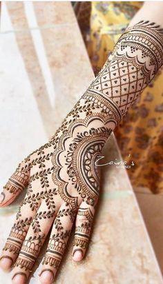 Pretty Henna Designs, Indian Henna Designs, Simple Arabic Mehndi Designs, Mehndi Designs 2018, Modern Mehndi Designs, Mehndi Design Photos, Wedding Mehndi Designs, Mehndi Designs For Fingers, Dulhan Mehndi Designs