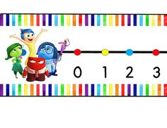 This is an Inside Out themed wall number line from 0-120.  I would recommend printing it in color, cutting it out, and then laminating it for durability.  There is a picture of the characters at the beginning of the number line, and at the end there is a picture of Bing Bong.