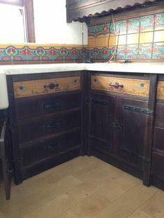 Close Up Of Corner In Monterey Furniture Style Kitchen Cabinets