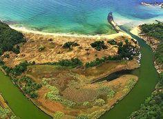 Where river Ropotamo flows into the Black Sea - Bulgaria