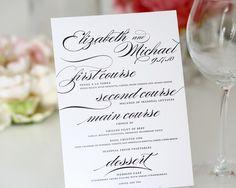 Wedding Menus  Marriage Design A Deposit by shineinvitations, $100.00
