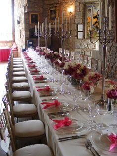 Use high and Low tables-capes, so guests can enjoy not only conversation, but have beautiful decor to look at.