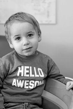Sweater 'hello awesome' @lesenfantsvontbien