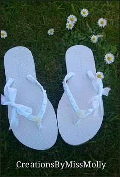 Check out this item in my Etsy shop https://www.etsy.com/uk/listing/512785476/customised-flip-flops-wedding-flip-flops
