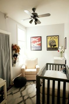Small and Cozy, Creme and Gray Nursery from Apartment Therapy