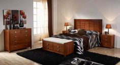 Dormitorio colonial serie Wood