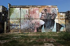 The Wrinkles of a city, La Havana, Cuba 2012 Artist JR & José Parlá http://www.jr-art.net/projects/the-wrinkles-of-the-city-la-havana