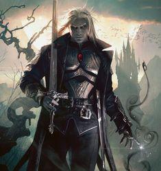 Sorin the Vampire from Magic the Gathering Fantasy Warrior, Fantasy Male, Fantasy Rpg, Dark Fantasy Art, Fantasy Artwork, Elf Warrior, Dark Warrior, Fantasy Inspiration, Fantasy Art