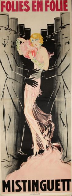 """Mistinguett"" ~ Art Deco Follies Bergere Poster"