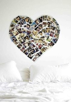 Heart Picture Collage.  Celebrate a loved one or a relationship.  Maybe add a border.