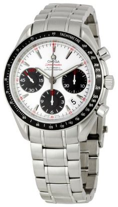 Omega Men's 323.30.40.40.04.001 Speedmaster Tachymeter Watch Omega. $3650.00. Scratch resistant sapphire crystal. Case diameter: 40 mm. Metal case. Automatic movement. Water-resistant to 330 feet (100 M)