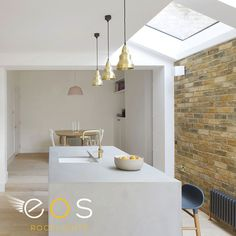 We worked with SS4 Architects on this beautiful kitchen extension. A number of stock rooflights were chosen for the side return to help bring light into this East London home. Project designed and Image courtesy of SS4 Architects. #eosrooflights #kitchenrefurb