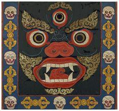 Ritual Dance Apron, Tibet, Textile Appliqué, 69 x 76 cm (27 ¼ x 30 in), 19th century