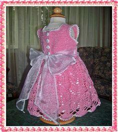 Strawberry and Cream Lace Dress Ensemble Crochet PDF Digital e