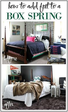 ... how to add feet to a box spring - a simple project with big impact