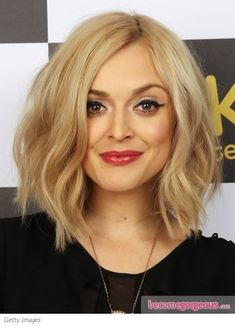 Fearne Cotton Wavy Bob Hairstyle - Fearne Cotton Hairstyles Pictures on we heart it / visual bookmark #25857162