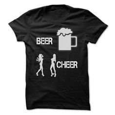 Beer and Cheer T-Shirts, Hoodies. GET IT ==► https://www.sunfrog.com/Drinking/Beer-and-Cheer.html?id=41382