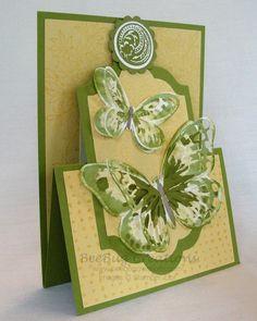 Watercolor Wings Easel Card | BeeBug Creations