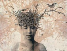Collages, Collage Art, Great Expectations, Portraits, Gravure, Art Sketchbook, Bird Art, Medium Art, Printmaking