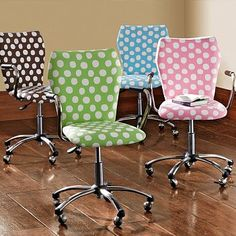polka dot office chair - pick a color