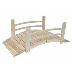 Create your own garden oasis with this Garden Bridge with Railings in Fir Wood. Whether it crosses an actual stream or over some flowers. Garden Structures, Garden Paths, Garden Bridge, Pond Bridge, Gnome Garden, Garden Tools, Wooden Garden, Cedar Garden, Fire Pit Area