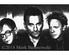 """Andy, Dave, & Martin"" - Depeche Mode - Charcoal Drawings by Mark Baranowski #music #Depeche Mode #Dave Gahan #art #charcoal"