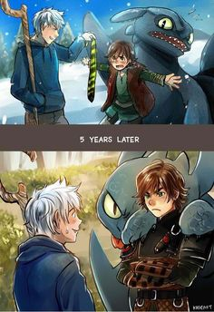 Jack: Hah! Hiccup: No get away from Toothless! (5 Years Later) Jack: Oh um heh Lets talk about this Hiccup: Yeah