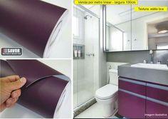 Use revestimentos adesivo e decore seu banheiro