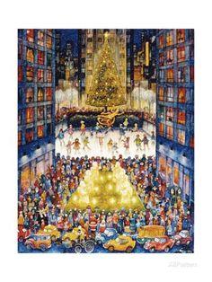 Rockefeller Center 1 Impression giclée par Bill Bell sur AllPosters.fr