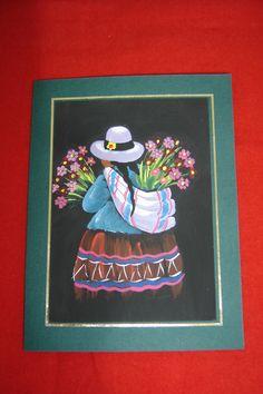 Motivos peruanos, nuestras lindas floristas Peruvian Women, Peruvian Art, Arte Popular, Mexican Folk Art, Art Party, Mosaic Art, Art Inspo, Art Projects, Behance