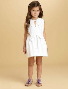 My future kids style. Little white dresses.