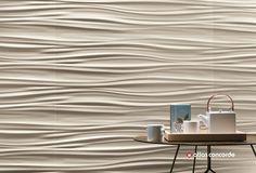 Rivestimento tridimensionale in ceramica a pasta bianca 3D WALL DESIGN RIBBON by Atlas Concorde