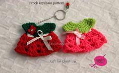 sandvicrochet: free pattern crochet frock keychain