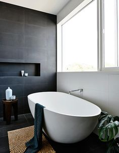 Grey tiled bathroom ideas full size of bathroom tile ideas gray and white bathroom grey bathrooms grey wood grain tile bathroom ideas Gray And White Bathroom, Grey Bathrooms, Bathroom Renos, Laundry In Bathroom, Beautiful Bathrooms, Bathroom Interior, Black Bath, Master Bathroom, Bathroom Mirrors