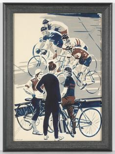 Bike racing painting from 1970s by Lev Michailovich Khailov, a very well-known Russian graphic artist and illustrator. He made illustrations for more than 300 books and his works can be seen in many museums in Russia and worldwide. For more details, see the description on ebay ... #FineArt #artforsale #antiques #1970s #mountains #bike #cyclist #soviet #illustration #illustrationart #vintage Online Art, Museums, 1970s, Illustrator, Russia, Original Art, Illustration Art, Racing, Bike