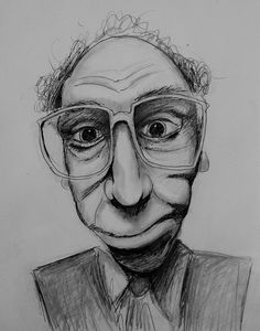 Drawing of an image I found online / sketch / glasses / art / drawing / black and white / stock