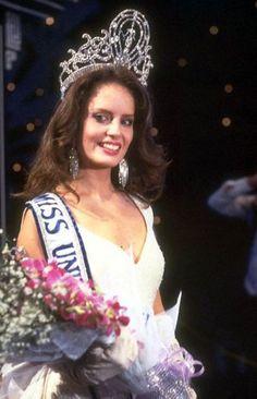 Miss Universe 1987,. The beautiful Cecilia Bolocco from Chile.
