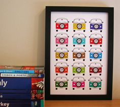 favourite campervan holiday print by moonglow art | notonthehighstreet.com