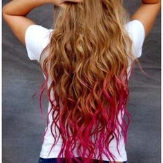 I'm so growing my hair out this long then dip-dying it pink! Can't Wait!!