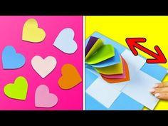 Varieties Of Greeting Cards. 10 Cute & Easy Greeting & Pop up Cards Idea Valentines Bricolage, Easy Valentine Crafts, Easy Paper Crafts, Kids Crafts, Diy Paper, Diy Gift Box, Easy Diy Gifts, Handmade Gifts, Diy Holiday Cards