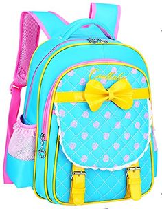 New Cute Girls Children School Bags High Quality Brand Waterproof Nylon  Pupils Backpacks Sweet Bowknot Princess Girl School Bags e1f668948558b
