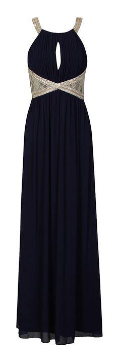 Navy Sequin Gown