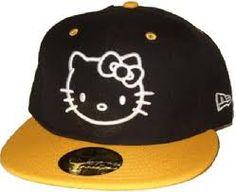 Hello kitty yellow, white and black hat