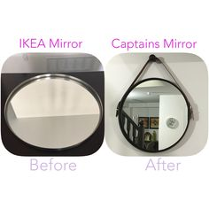 IKEA hack.Grundtal mirror makeover. Captains mirror. I'm happy and satisfied with the outcome.Here is the link on how to do it www.houseandhome.com/video/diy-captains-mirror/