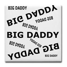 "Big Daddy Tile Coaster square tiles 4.25""x 4.25"""