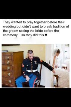 I saw this photo and knew this would happen. Especially love the fact that this is a Marine wedding :) Cute Wedding Ideas, Wedding Goals, Wedding Pictures, Perfect Wedding, Wedding Planning, Budget Wedding, Army Wedding, Our Wedding, Dream Wedding