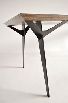 Prototype architect dining table 1980s, Beton Brut London: