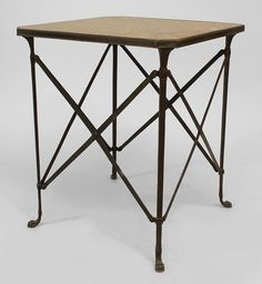 French Directoire table end table bronze