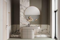 REPINO 2 on Behance Bedroom Closet Design, Bathroom Interior Design, Kids Bedroom, Black Wooden Chairs, Log Table, Kitchen Chandelier, Circular Mirror, Modern Spaces, Cgi