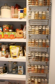 DIY Ideas for Stashing Spices - Inside The Pantry Door